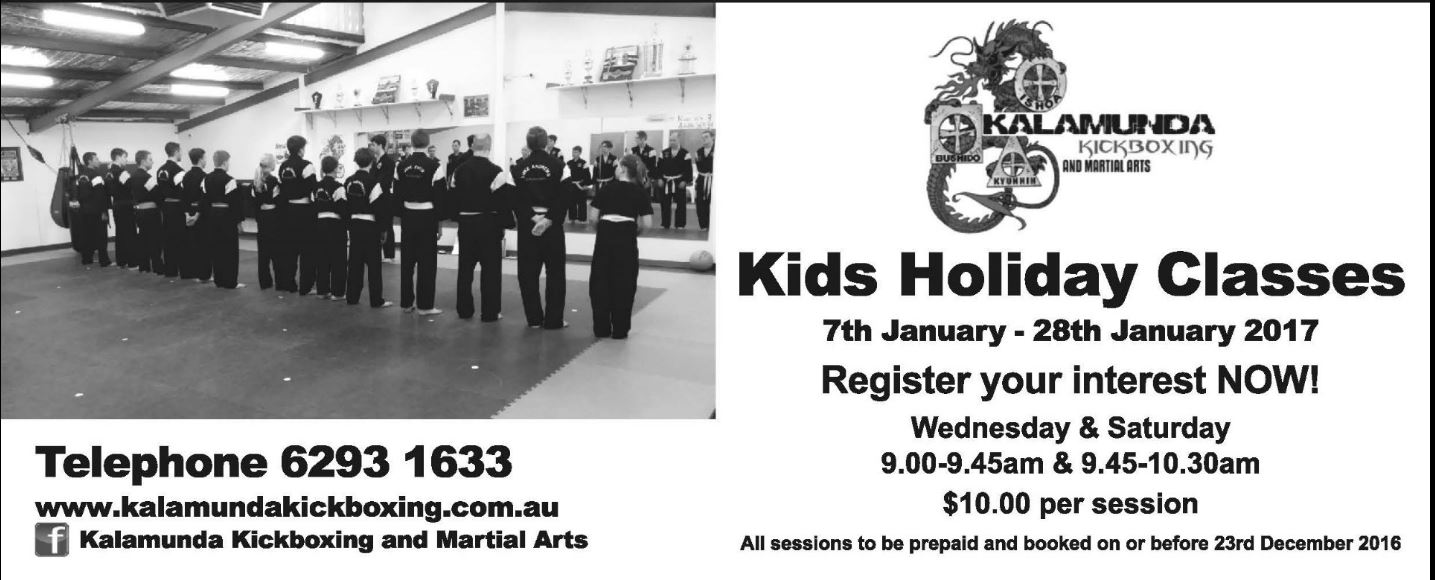 Holiday Classes 2017