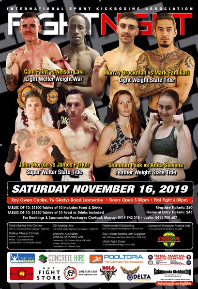 Fight Night Nov. 16, 2019