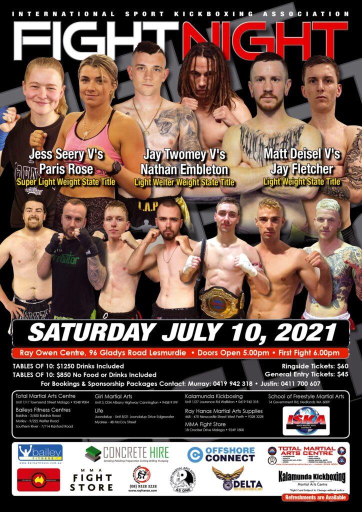 ISKA FIGHT NIGHT - JULY 10th 2021