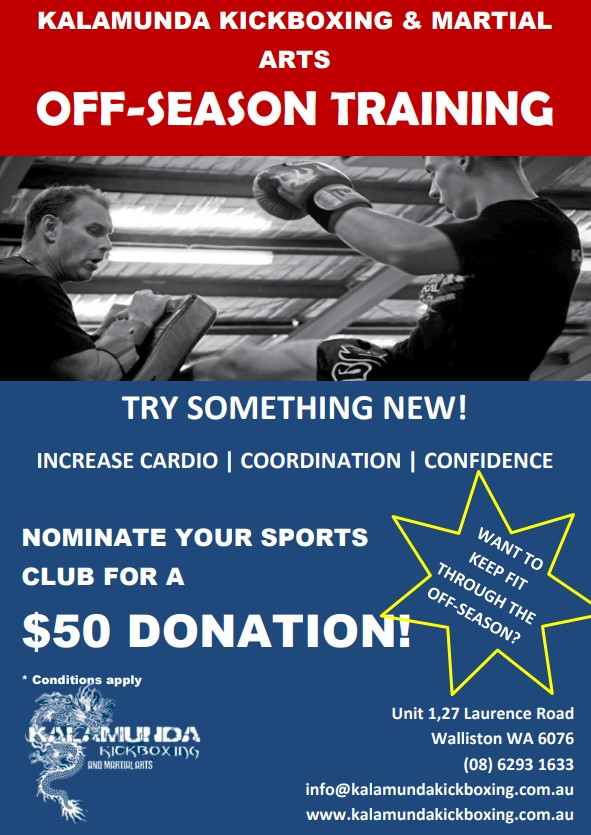 Off-Season Training Flyer